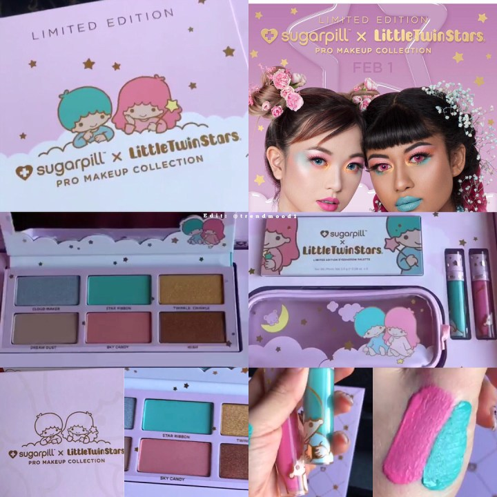 Sugarpill Is Releasing A Sanrio Littletwinstars Collab With An Eyeshadow Palette And Two Liquid Lipsticks