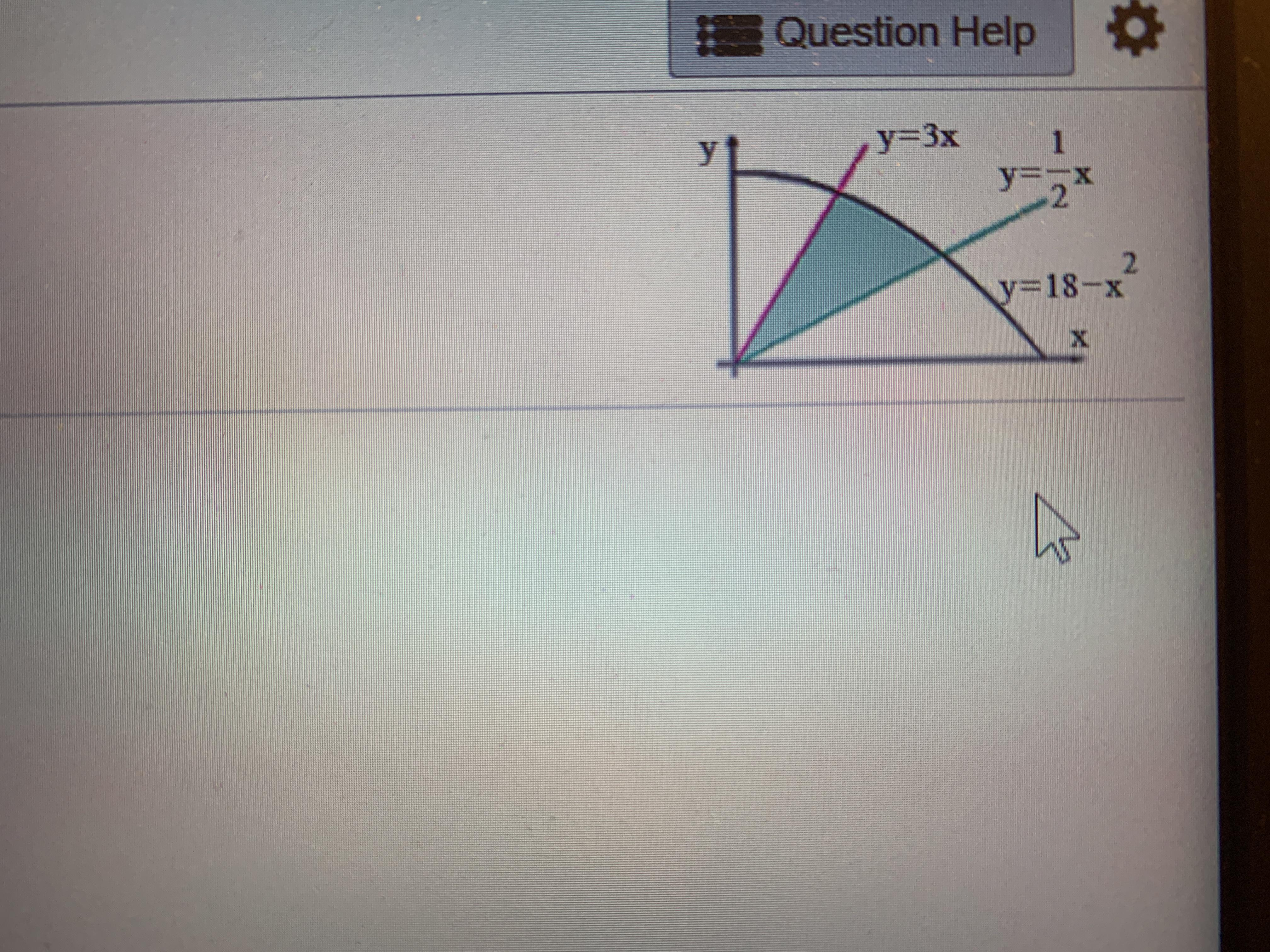 How Can I Find The Shaded Area Bounded By 3 Curves Should