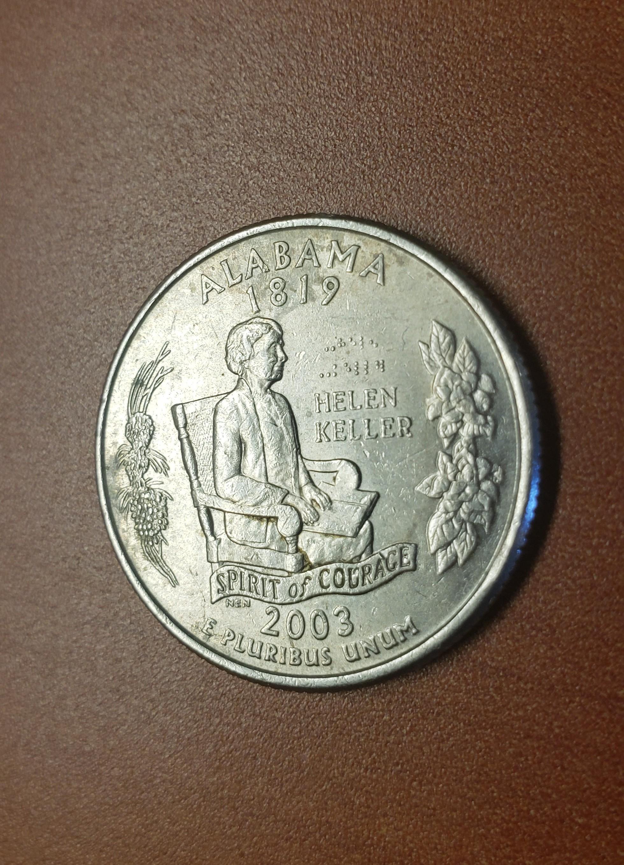 Helen Keller S Quarter Dollar Has Her Name In Braille