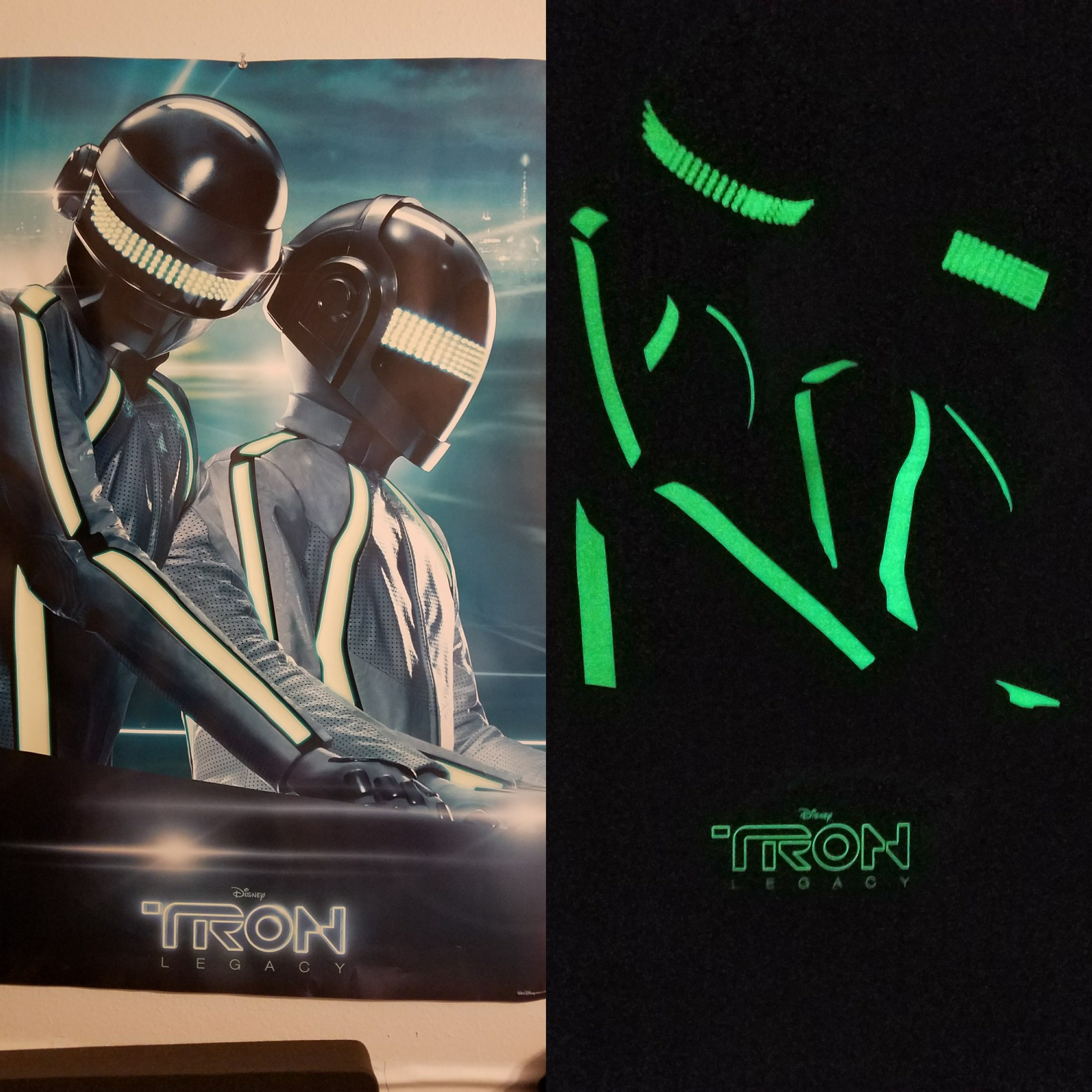 my daft punk tron poster from when the