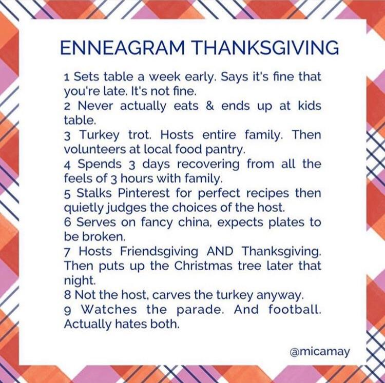 Thanksgiving Through The Eyes Of The Enneagram Enneagram