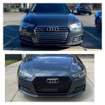 Before After Having The Black Honeycomb Grille Installed On The B9a4 Went With The Chrome Rings Audi