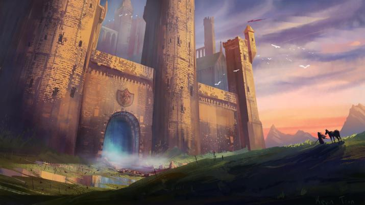 Fantasy Castle environment I made! [1920×1080]