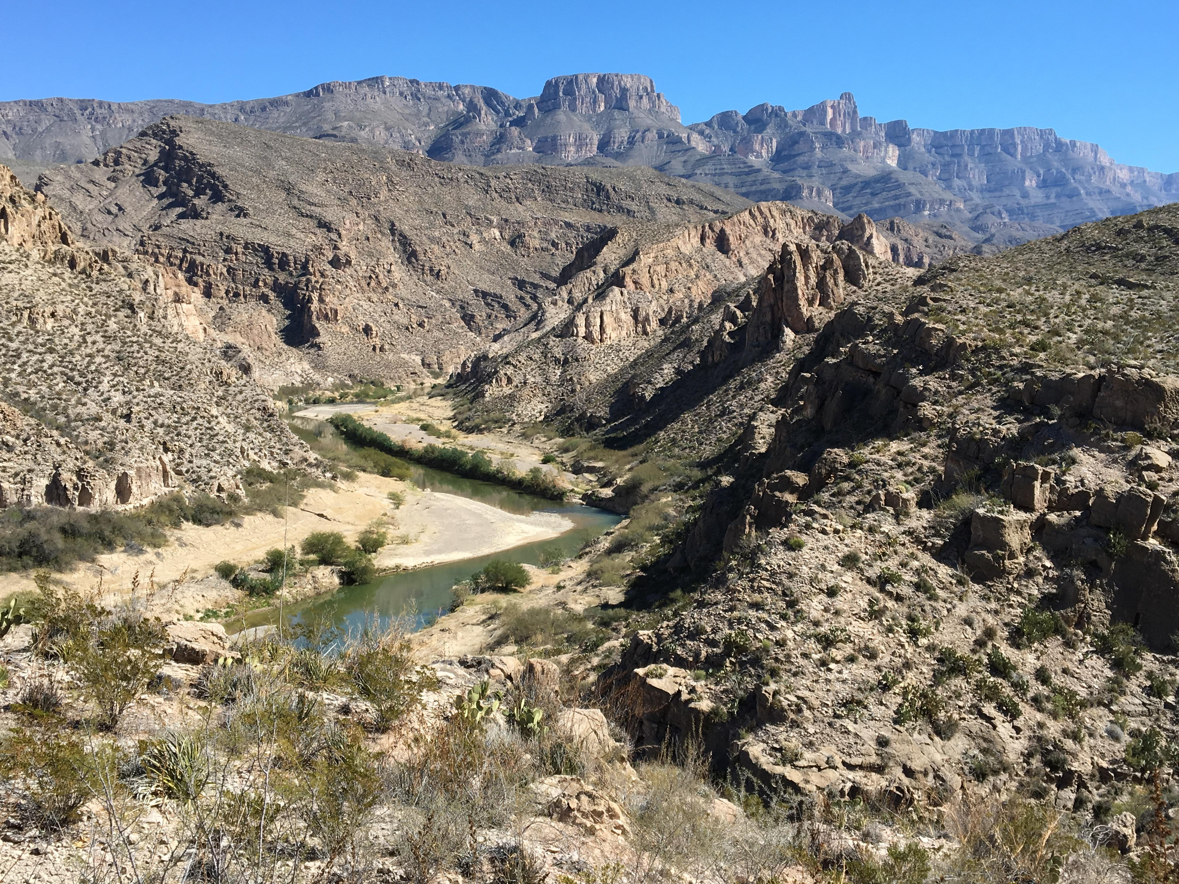 River And What Texas Between Forms Border Mexico