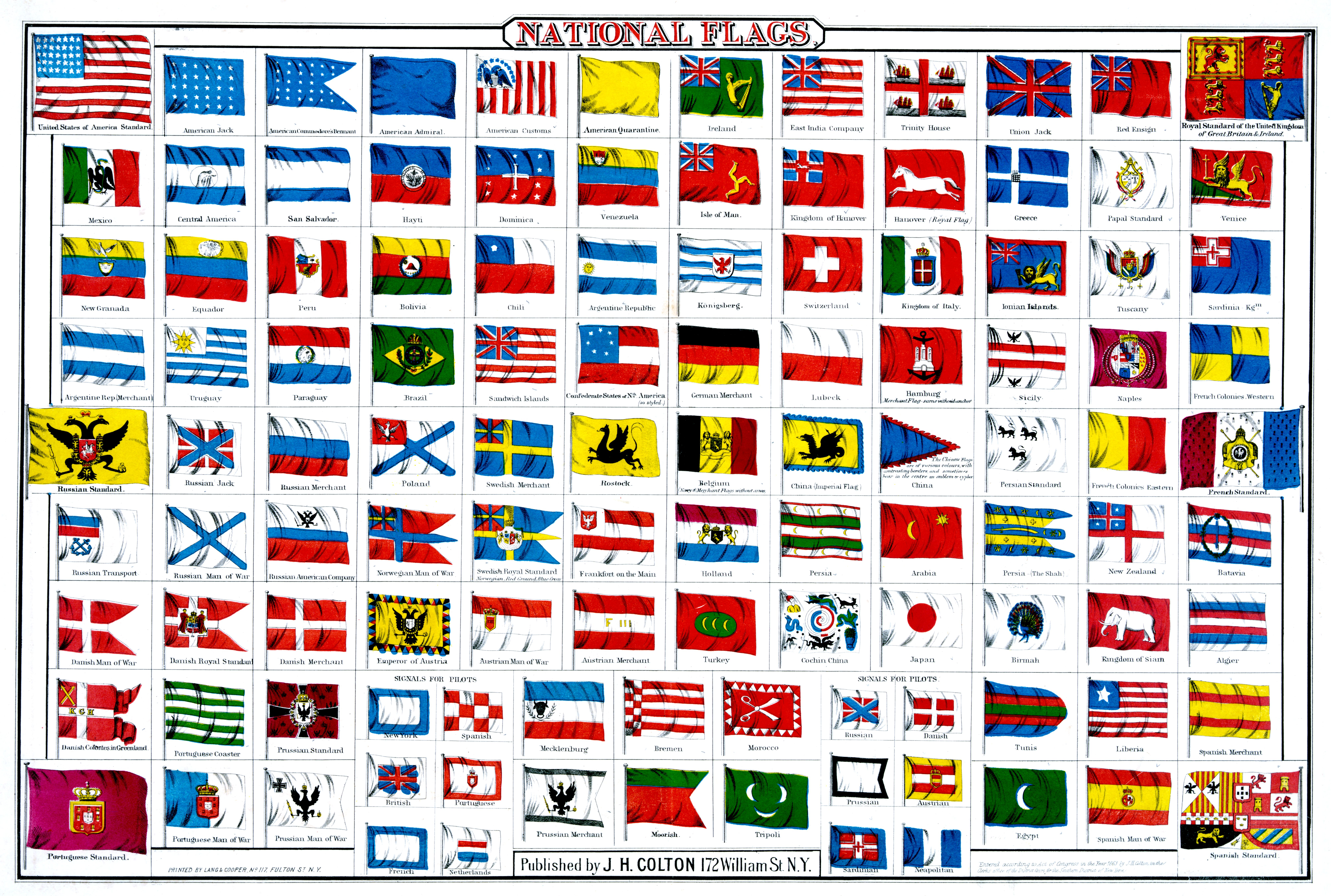 National Flags Of The World Published By J H Colton C