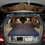 Anyone Else Sleep In Their Hatchback Here S The Bed I Built In My Suv Roadtrip