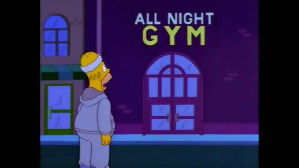 Gym? What's a gym? : TheSimpsons