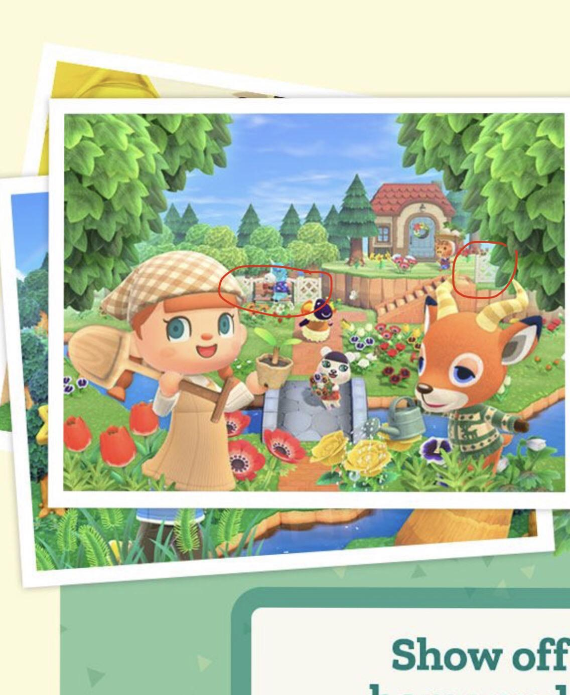 Nintendo Sent Me An Email Earlier Today With One Of The Original Advertisement Screenshots That We Ve Seen Before Looking Back On It Now You Can See Some White Lattice Fences In The