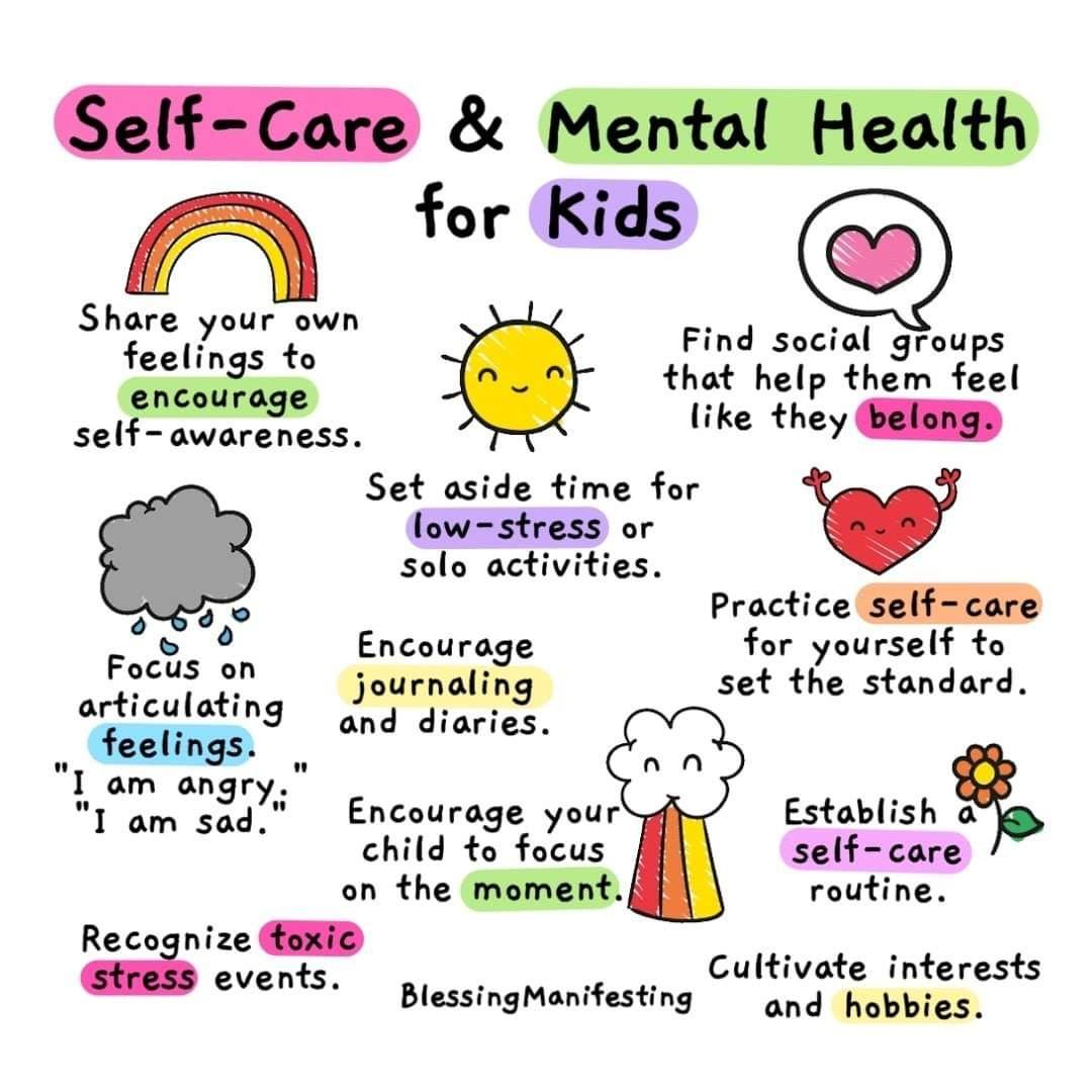 Self Care Amp Mental Health For Kids Coolguides