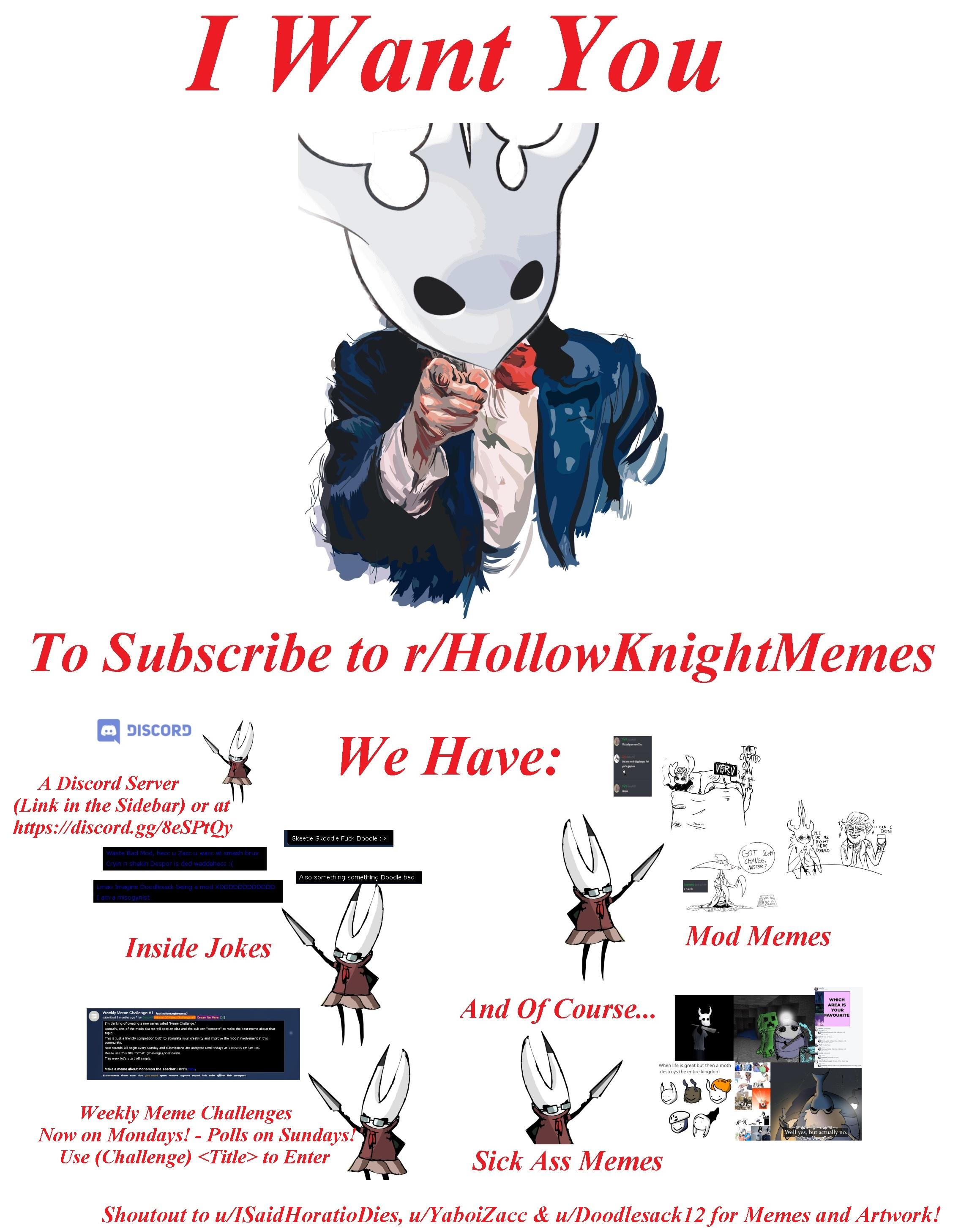 I Make A Spooky Hollow Knight Meme And Put It On Rmemes No One