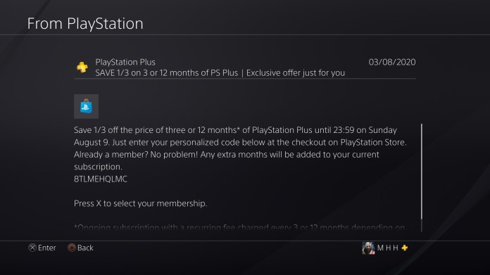 Got This Ps 33 Discount Code From Playstation Thought Someone Could Use It It Ends By Tomorrow Good Luck Playstationplus