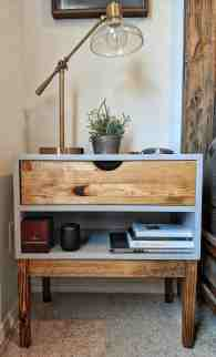 Mid Century Modern Inspired Bedside Table Woodworking