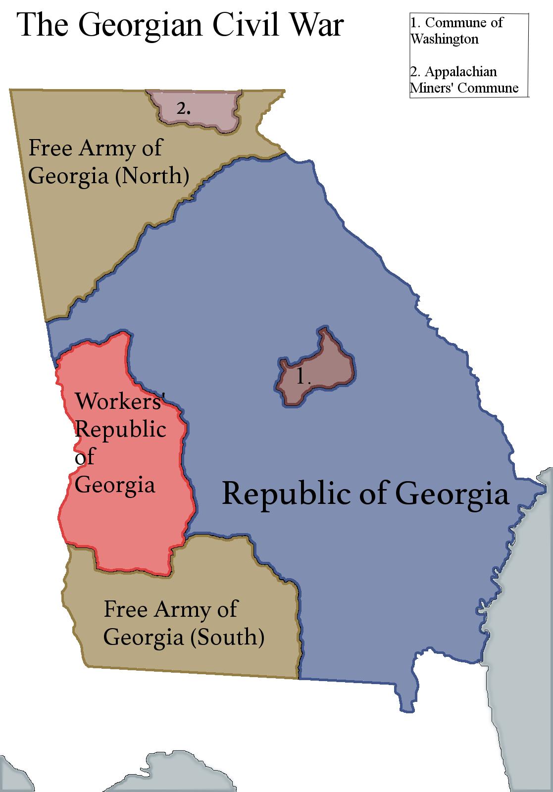 The Georgian Civil War From My Civil War Alternate