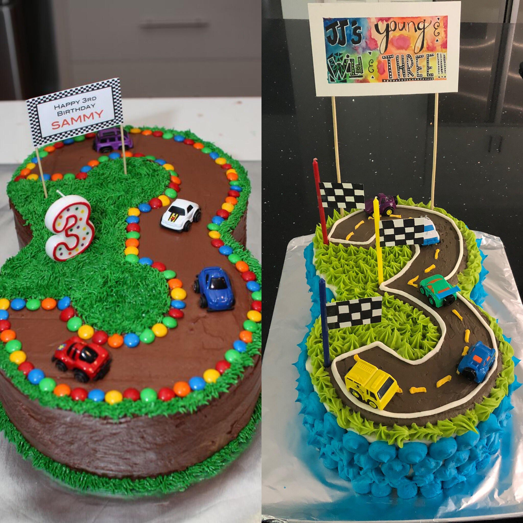 Trying To Recreate A Pinterest Birthday Cake For A 3 Year Old Pinterest On Left My Version On The Right Expectationvsreality