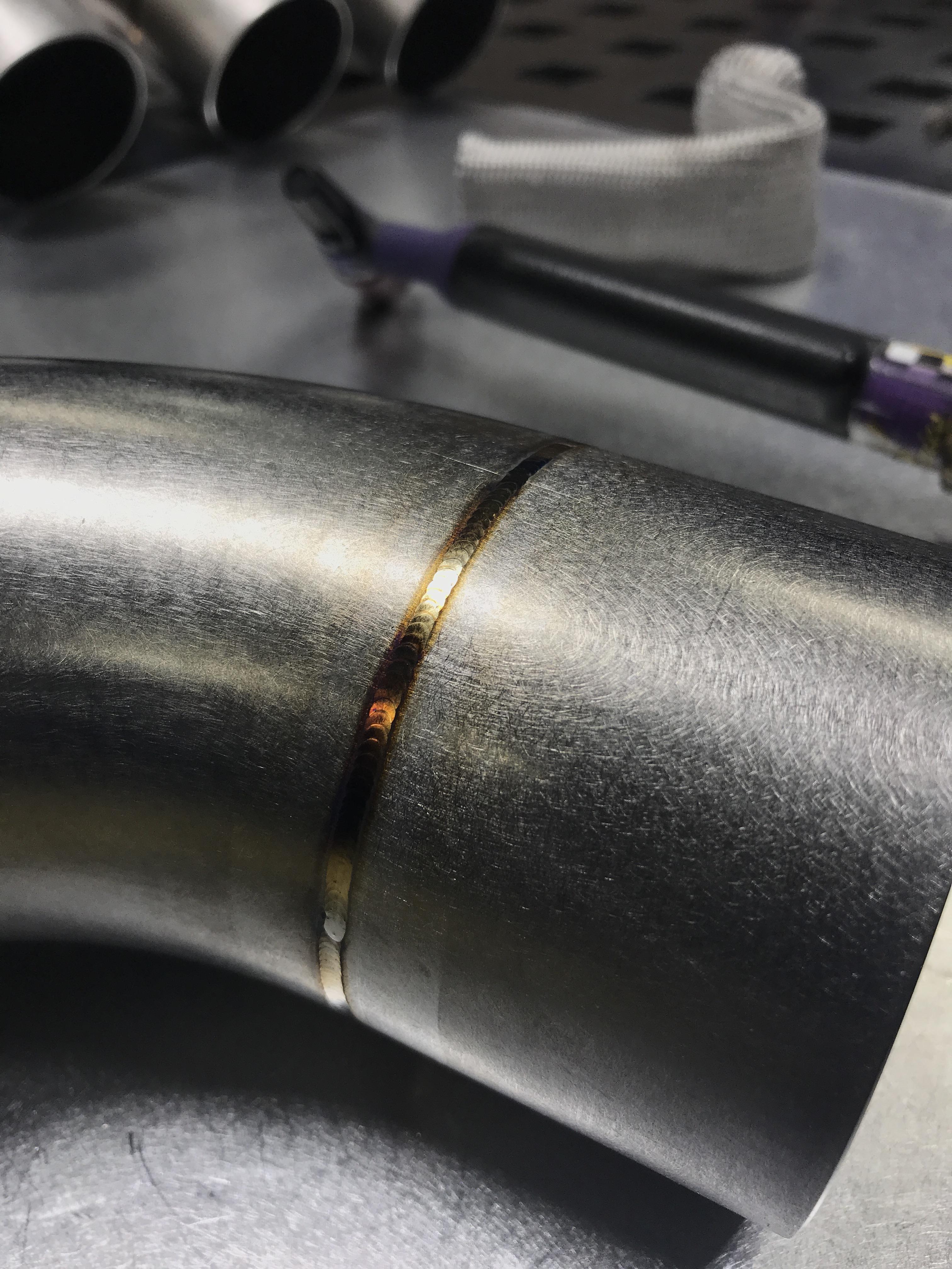 exhaust work this weekend welding