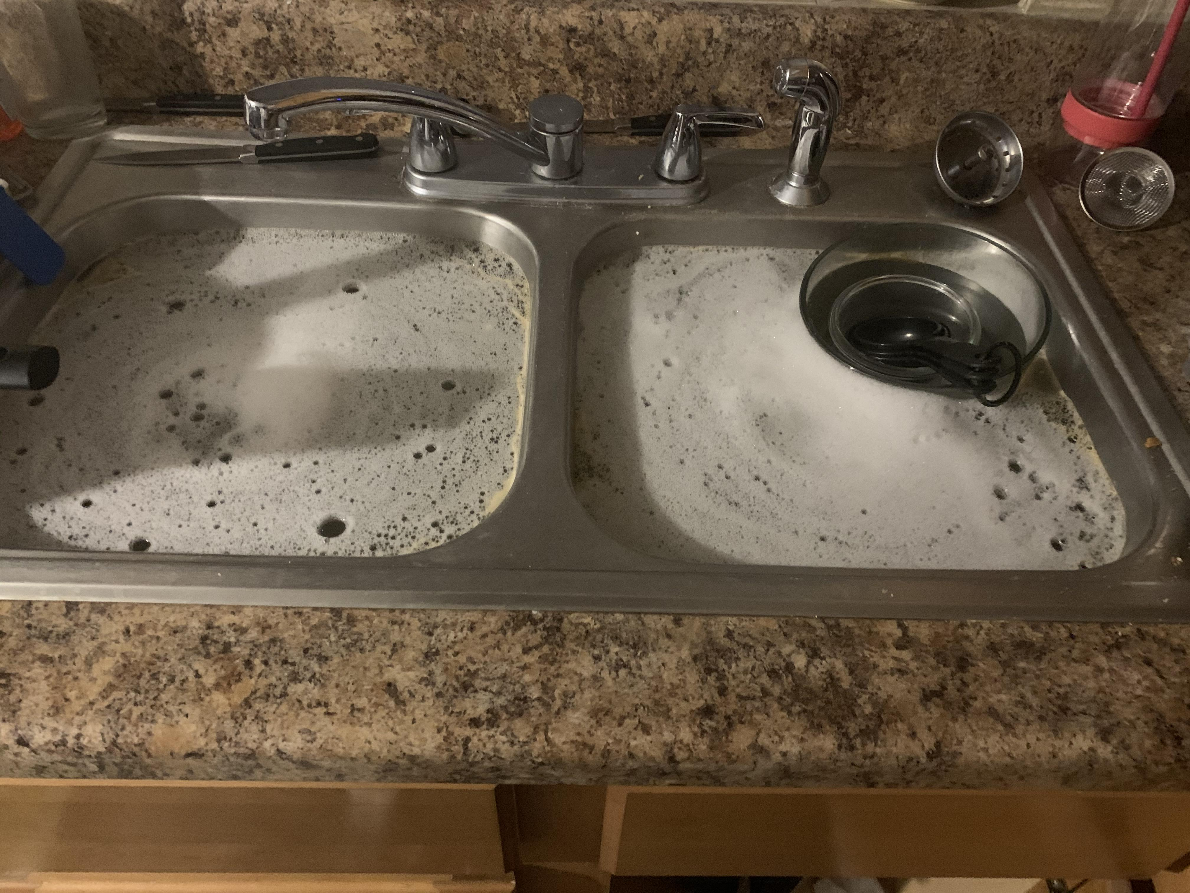 upstairs neighbor was doing his dishes