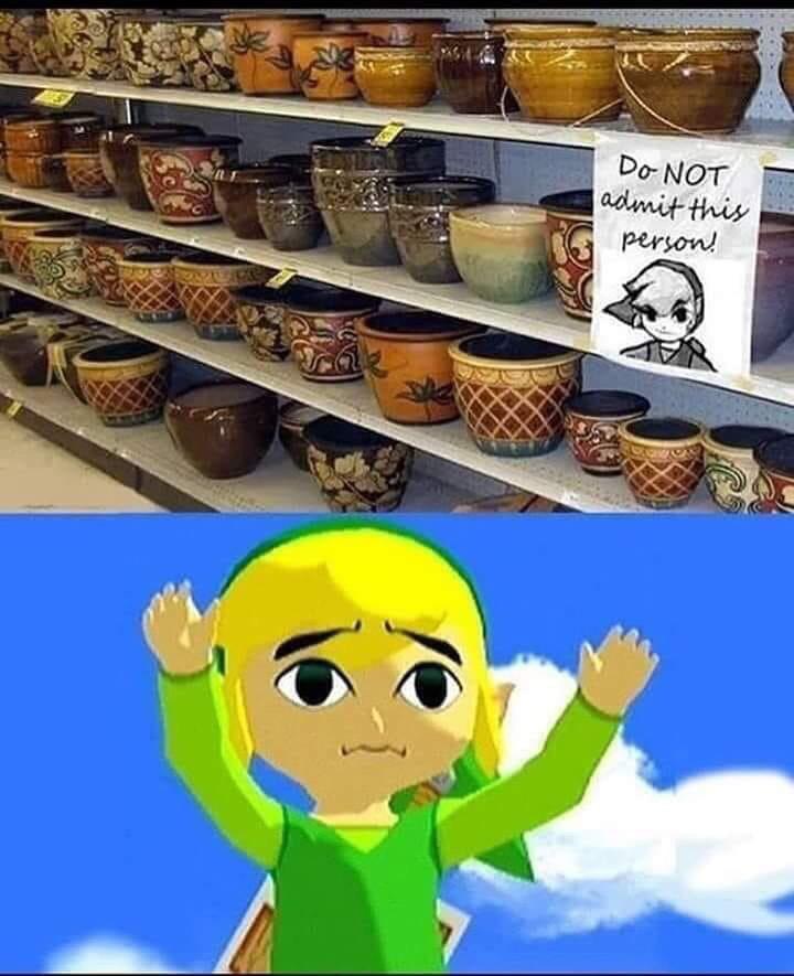 Ww Link Just Wants The Pots Zelda