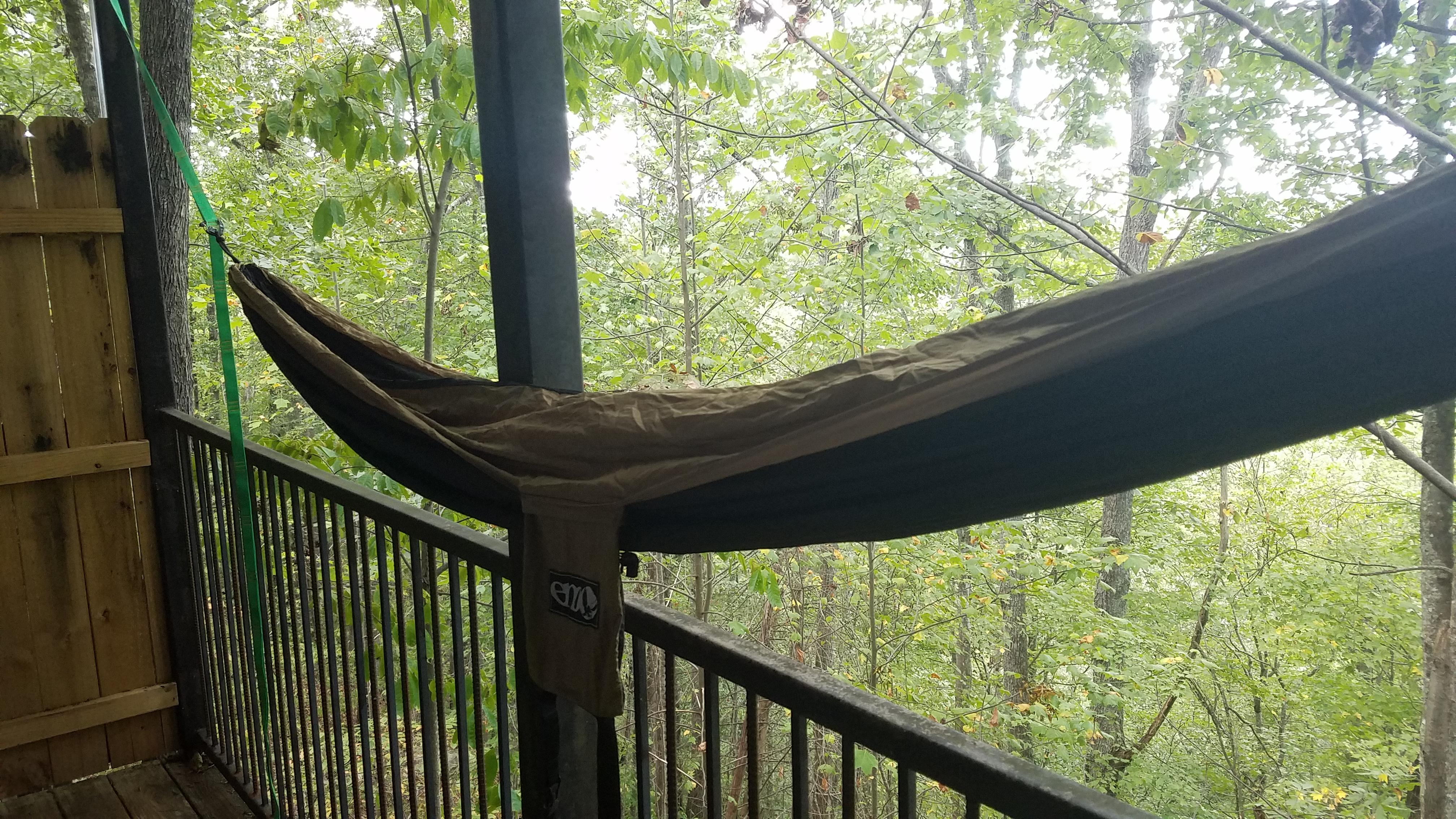 Trade Black And Tan Eno Double Nest Hammock With Straps