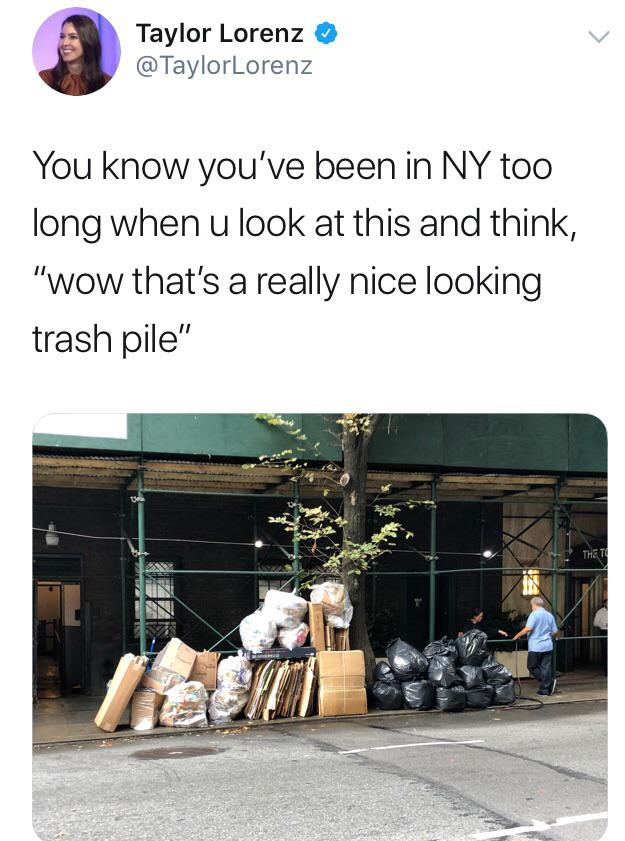 A Really Nice Looking Trash Pile Nyc