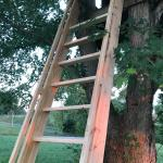 Ships Ladder I Built For The Kiddo S Treehouse Woodworking