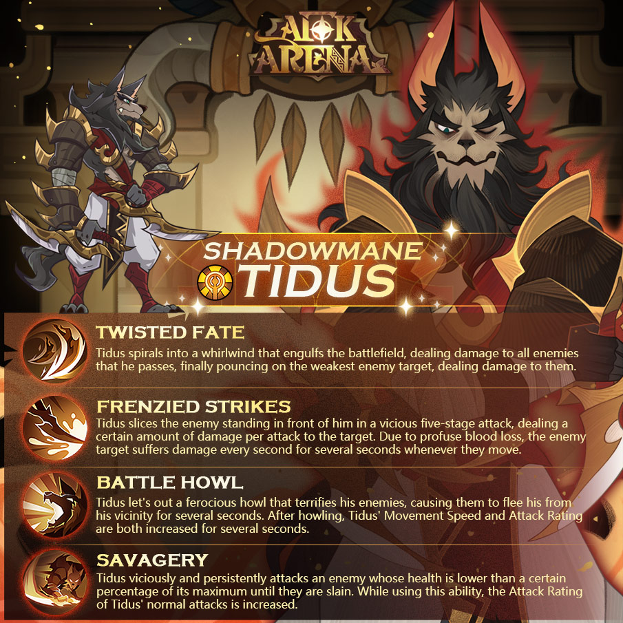AFK Arena 1.27 Patch Notes Tidus - Shadowmane Introduction