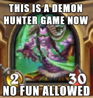 Yeah Demon Hunter Is Fine I Guess Hearthstone