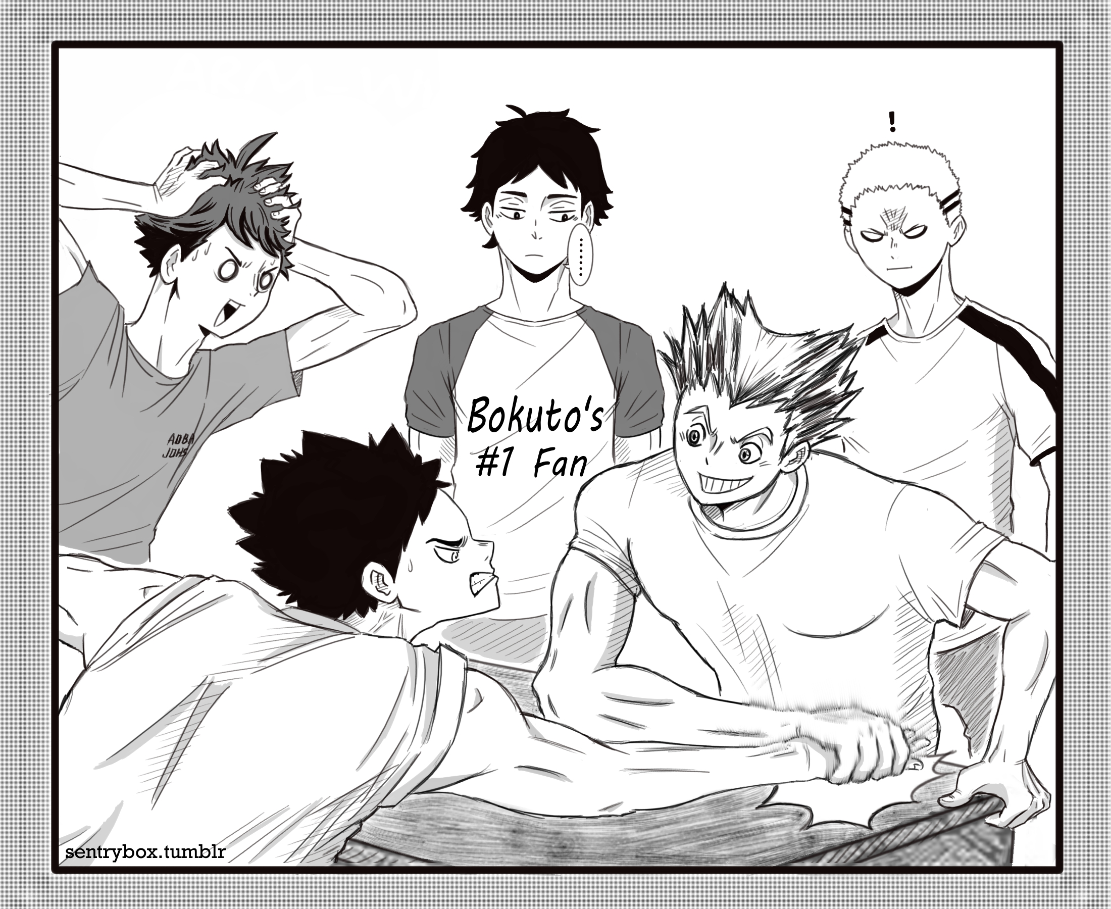 bokuto vs iwaizumi armwrestling haikyuu