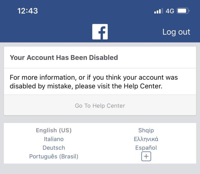 Is this warning a premanent account disable? If not, what should i