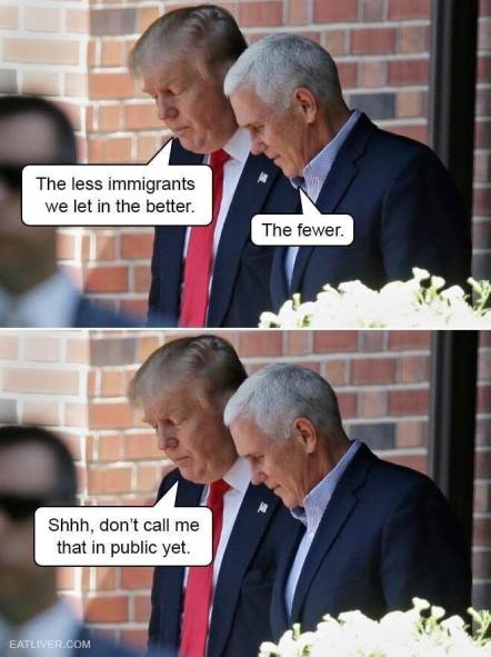 Trump and Pence : PoliticalHumor
