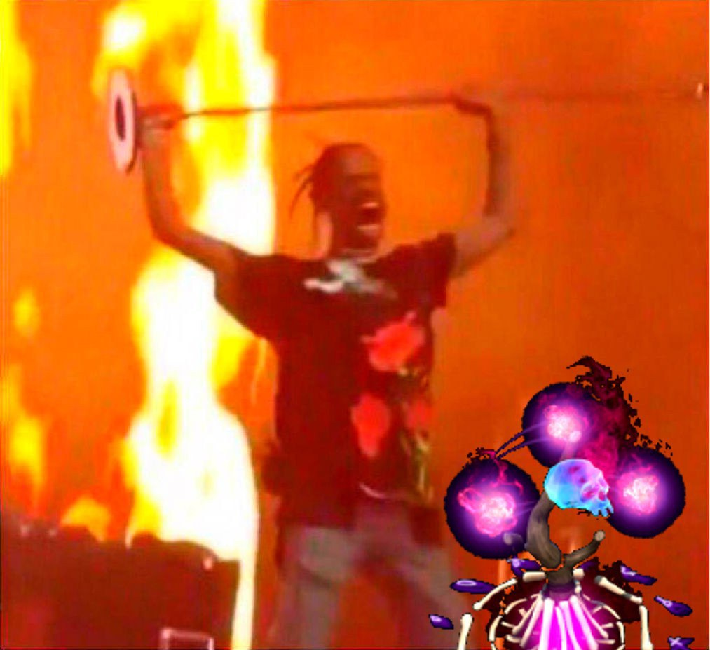 Travis Scott Channeling His Inner Witch Doctor Gamingmeme
