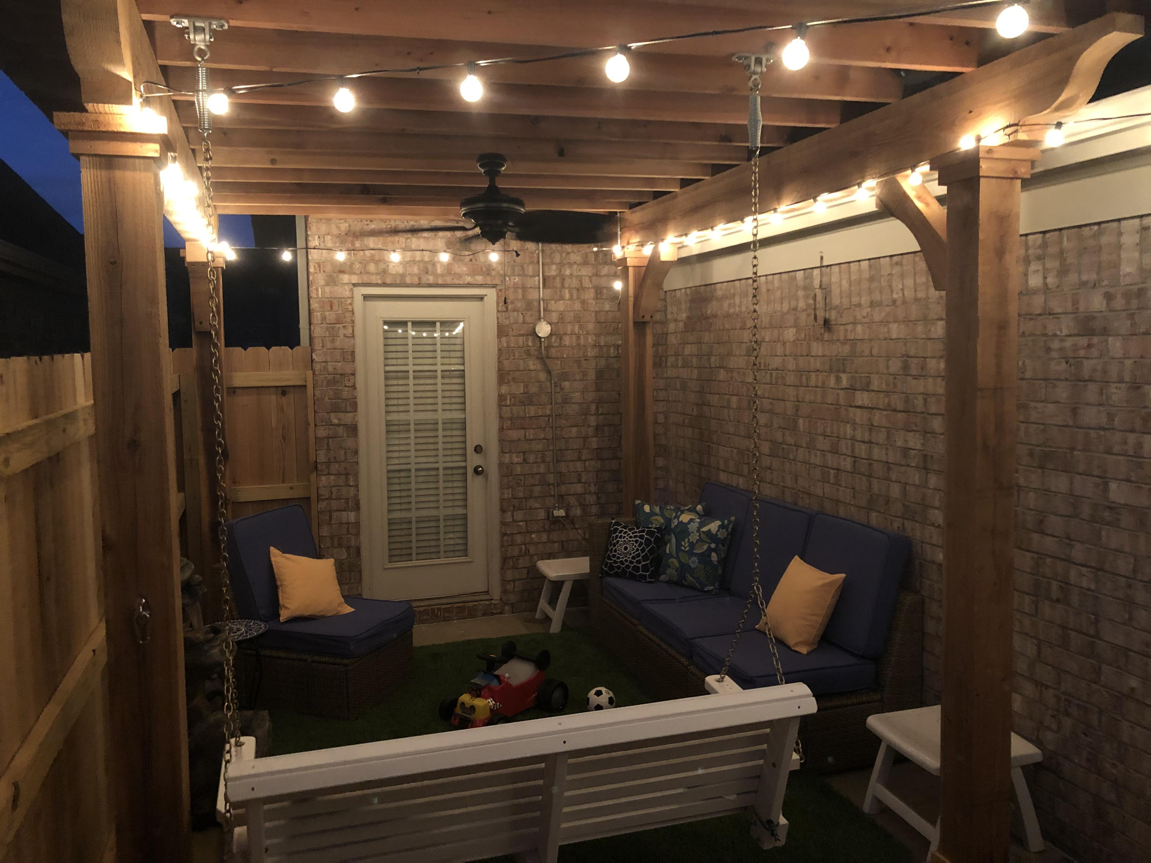my new patio with a tin roof pergola a