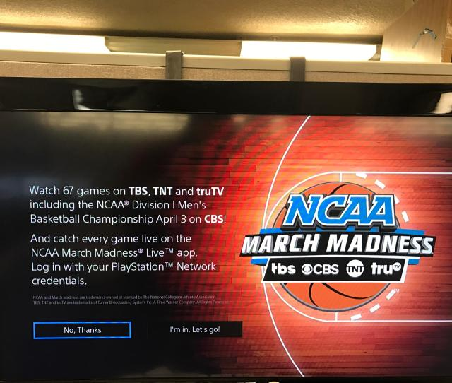 Ncaa March Madness Live App Allows Psvue Auth