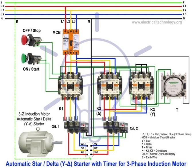 star delta starter   y  a  starter power  control