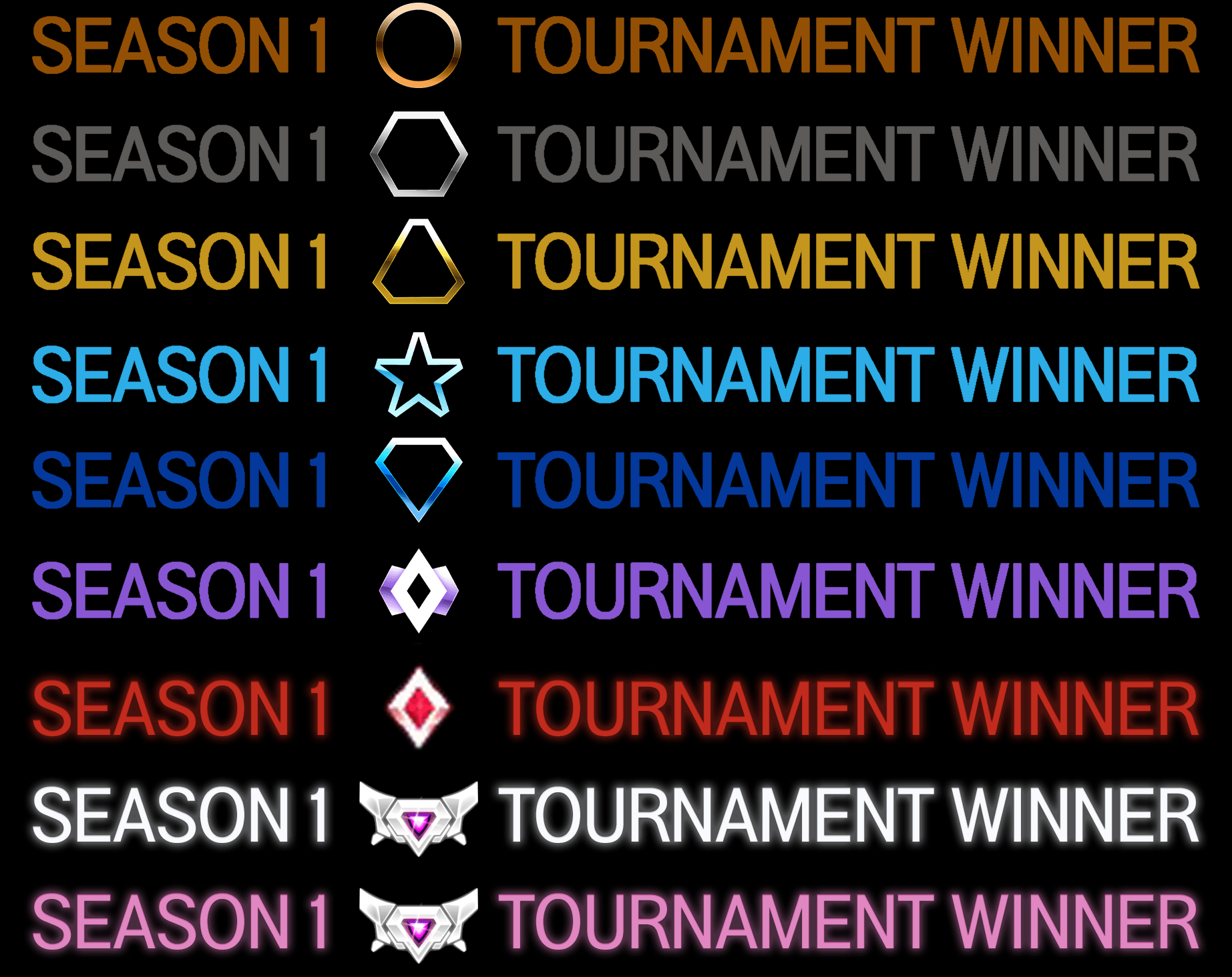 Please Change The Hat Trick Or 3 Time Tournament Winners From The Tacky Green To Their Respective Colors I Really Don T Care Whether They Glow Or Not Below Gc As It D Make