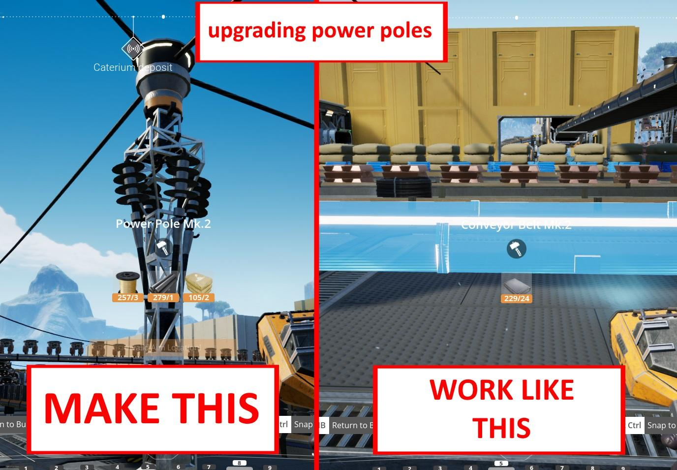 Feature Request Make Power Poles Upgradeable Like Belts