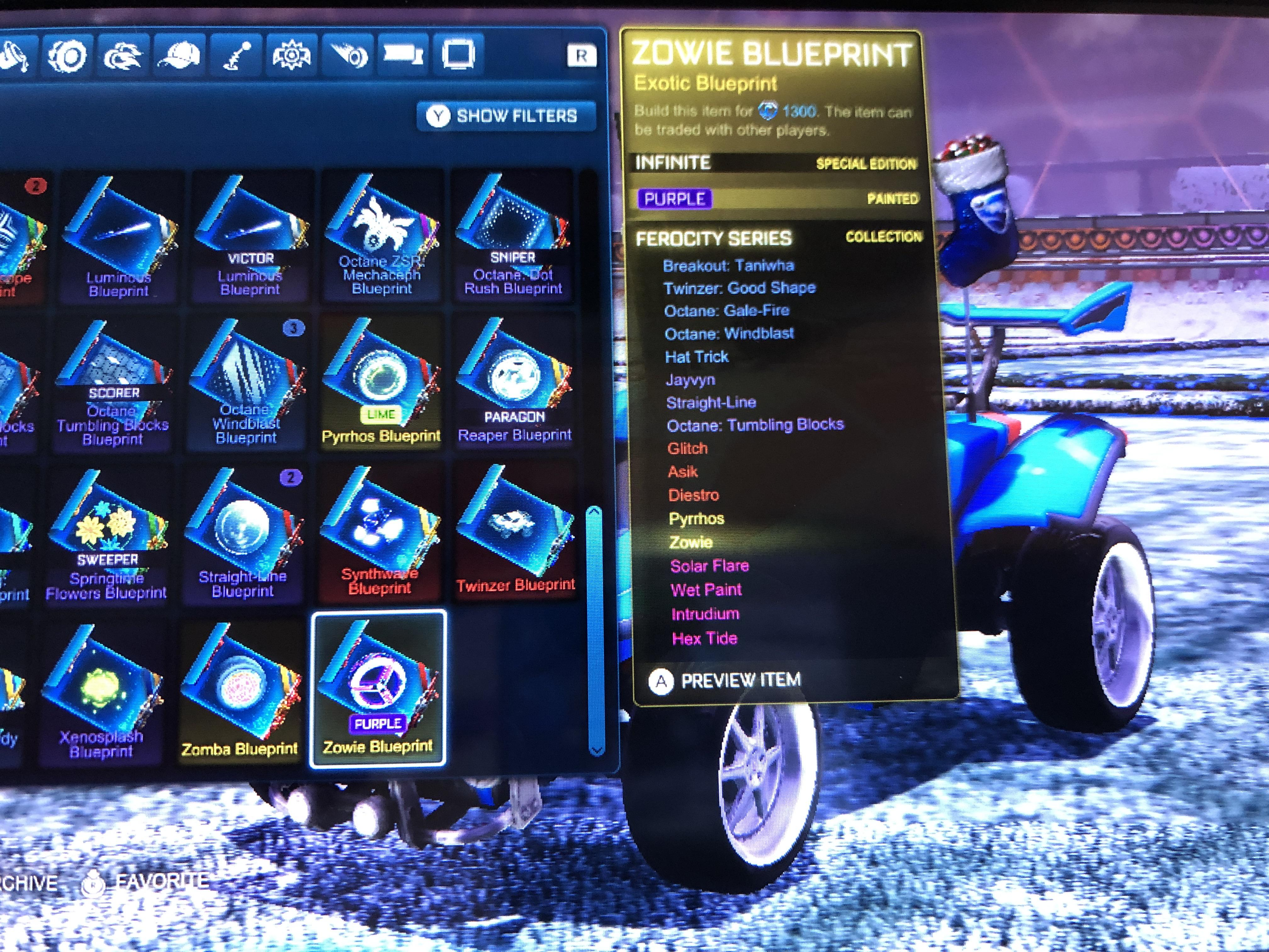 What Does Infinite And Special Edition Mean On These Rocketleague