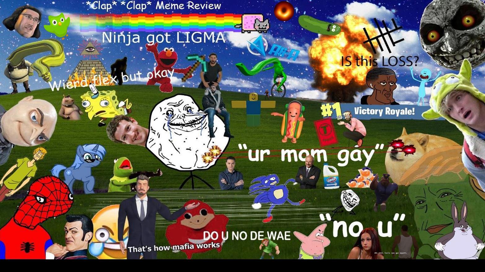 My Desktop Background By Falchu Meme Center