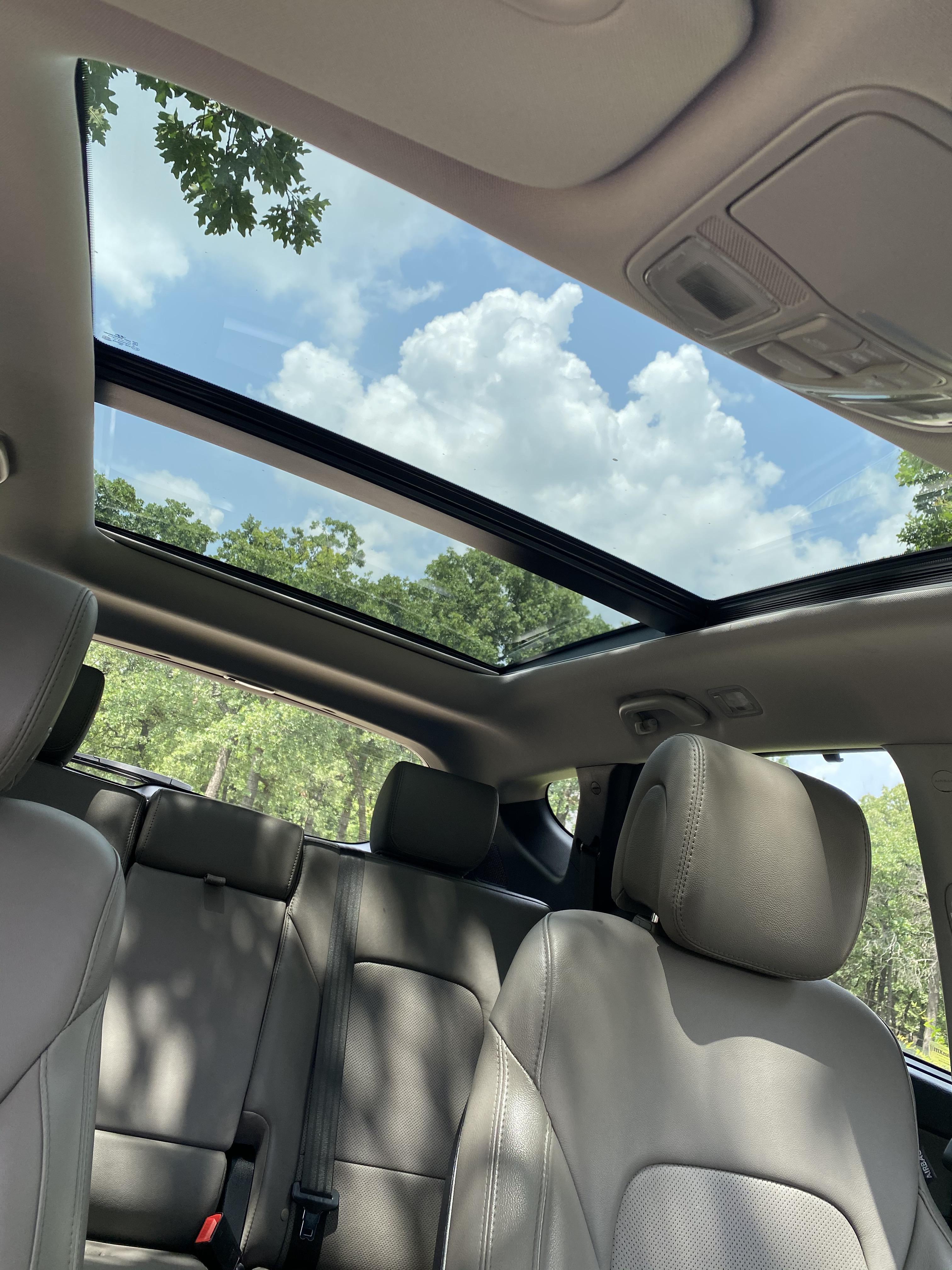is a roof rack with panoramic sunroof