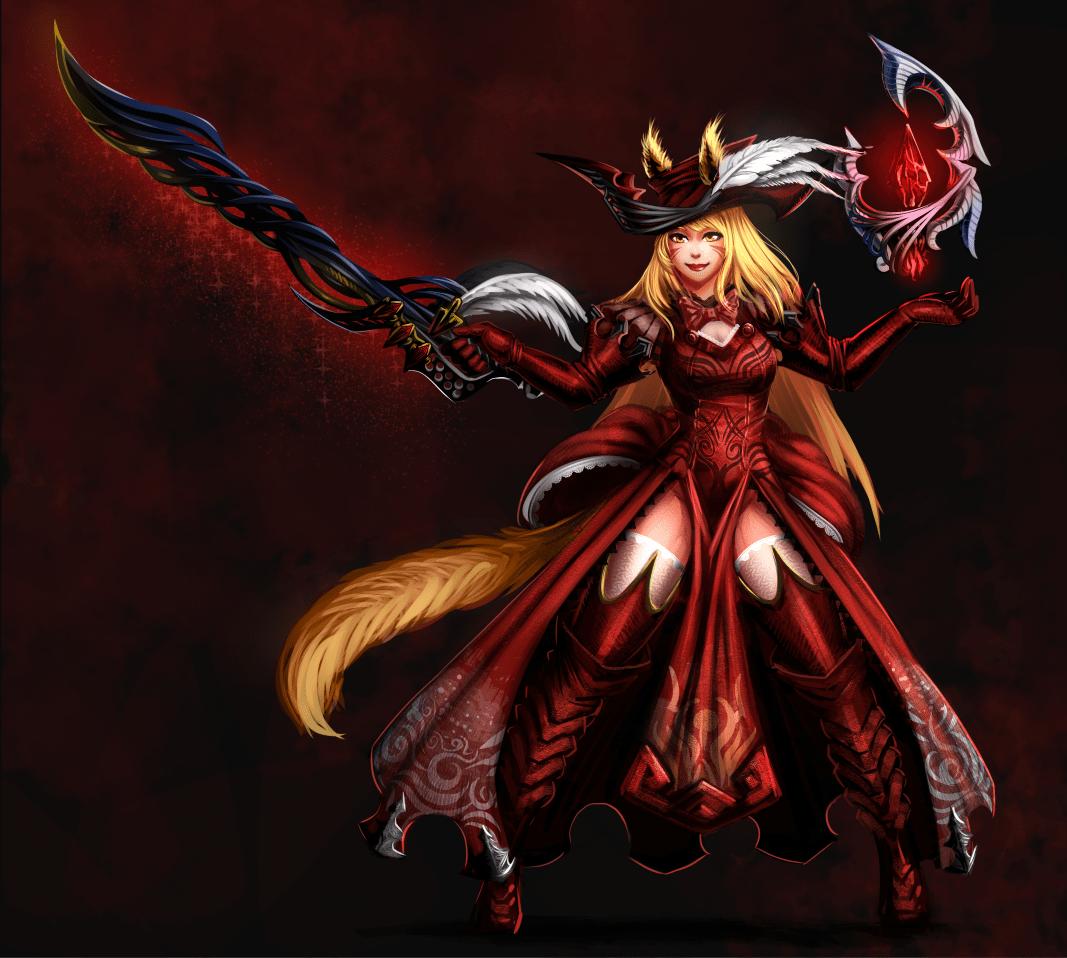 Fanart Of Liela DeLune As Redmage Cat D Ffxivart