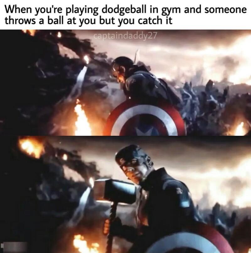 Spoilers Cap Would Be Great As Dodgeball Spoiler Meme Marvelmemes