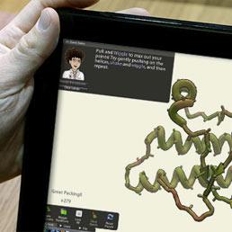 Una schermata del videogame Foldit