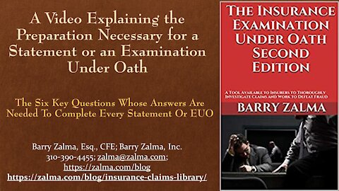 A video explaining the preparations necessary for a statement or investigation under ed