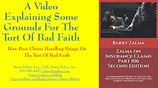 A Video Explaining Some Grounds for the Tort of Bad Faith