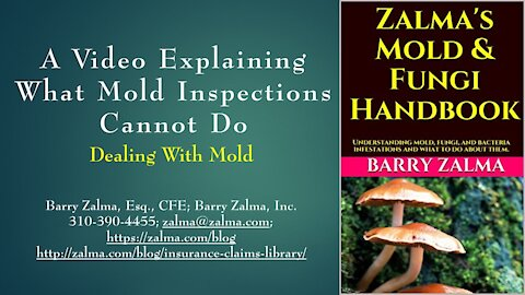 A video explaining what mold inspectors can not do