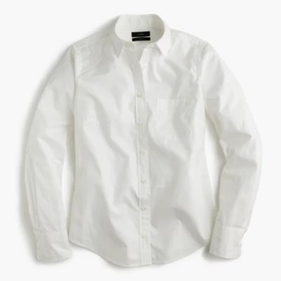 New Perfect Shirt In Cotton Poplin Womens Shirts JCrew