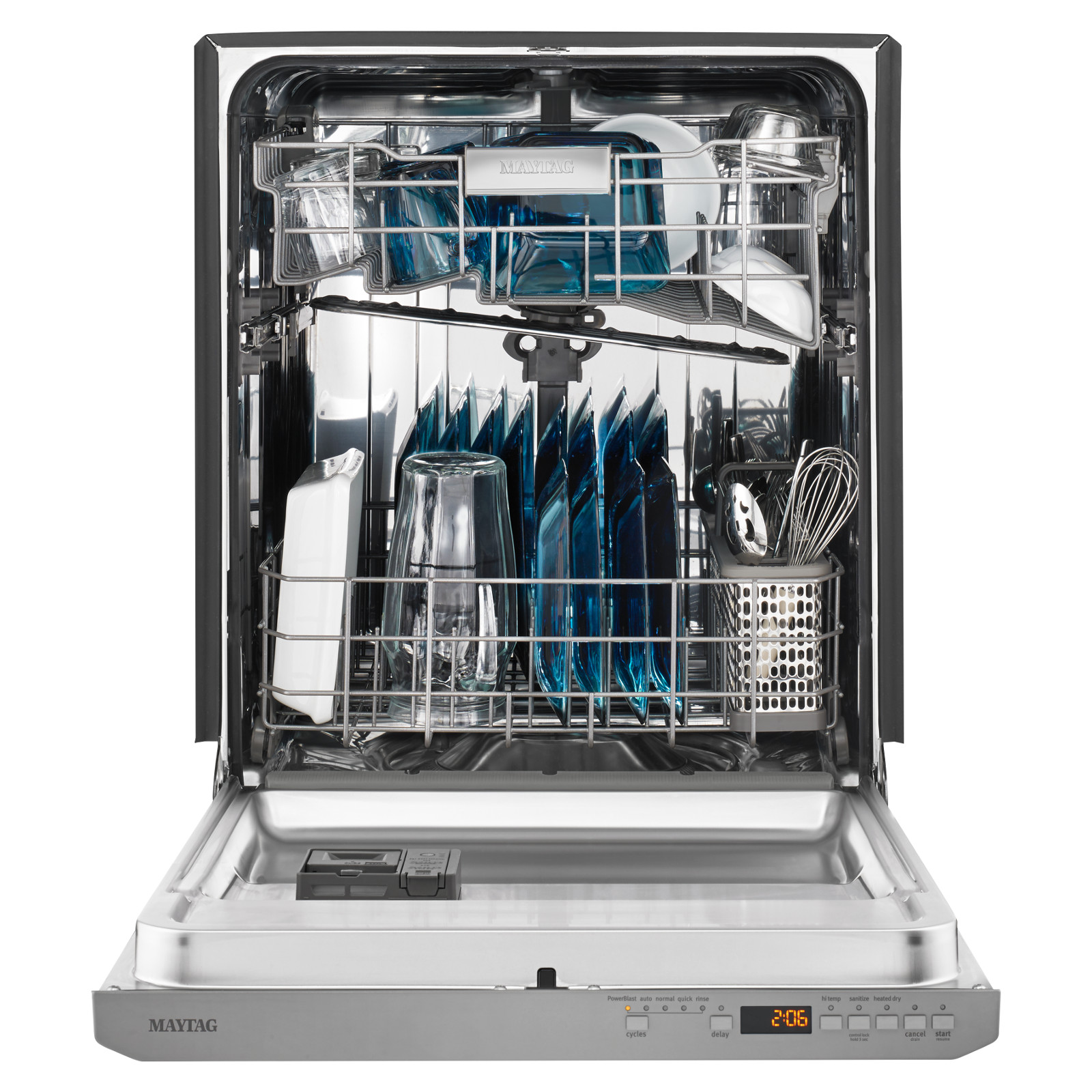 maytag mdb8959sfz 24 top control dishwasher w fingerprint resistant stainless steel exterior stainless steel