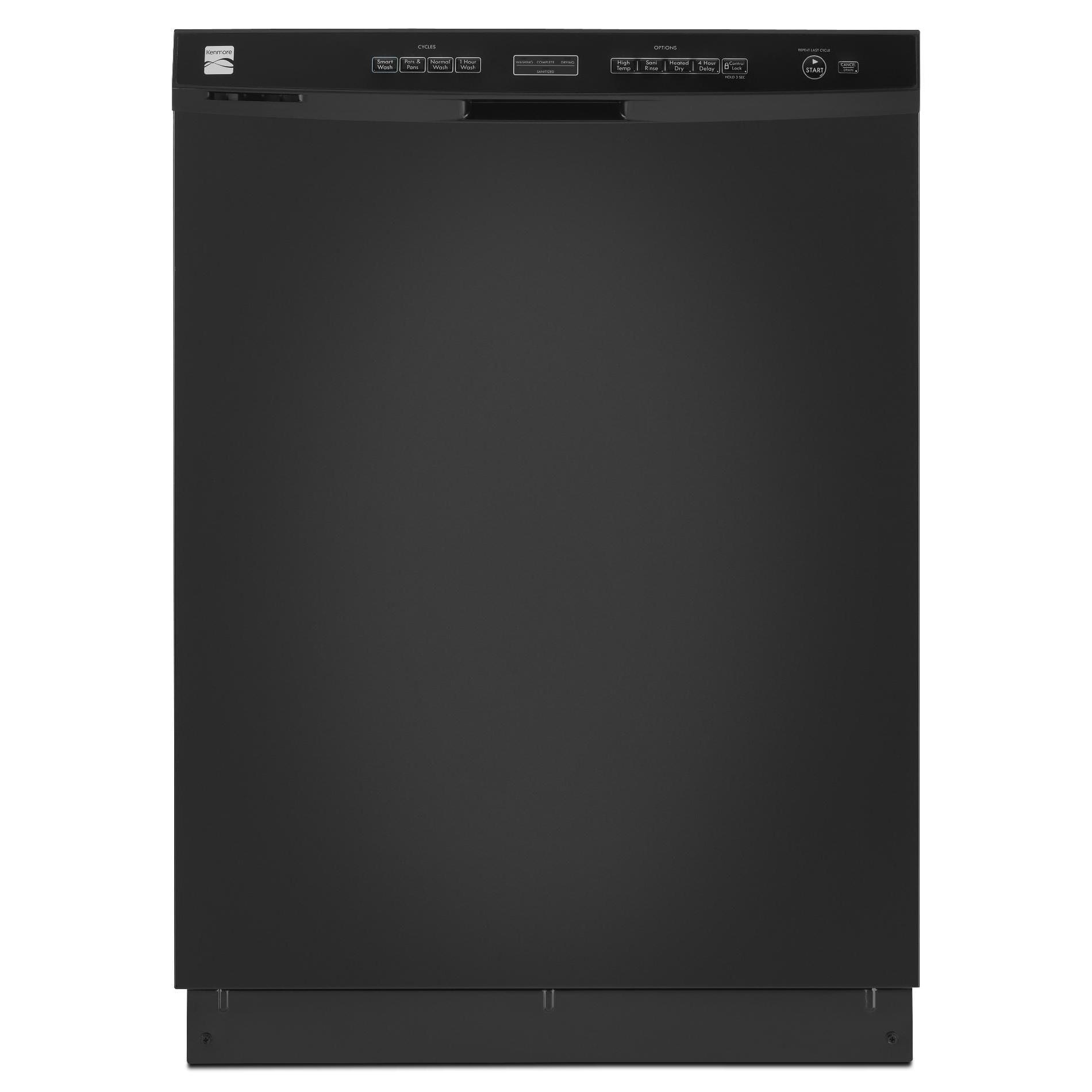 Kenmore 13039 24 Built In Dishwasher W Sani Rinse Trade Black