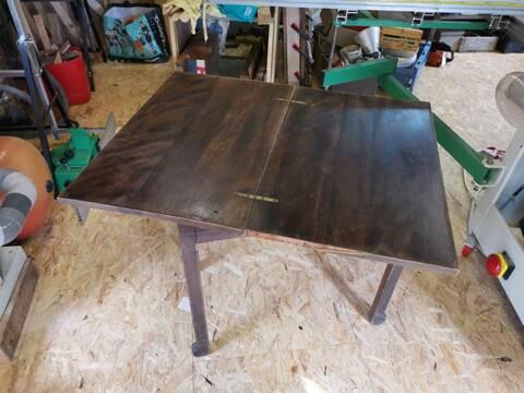 table de bridge pliante et rotative