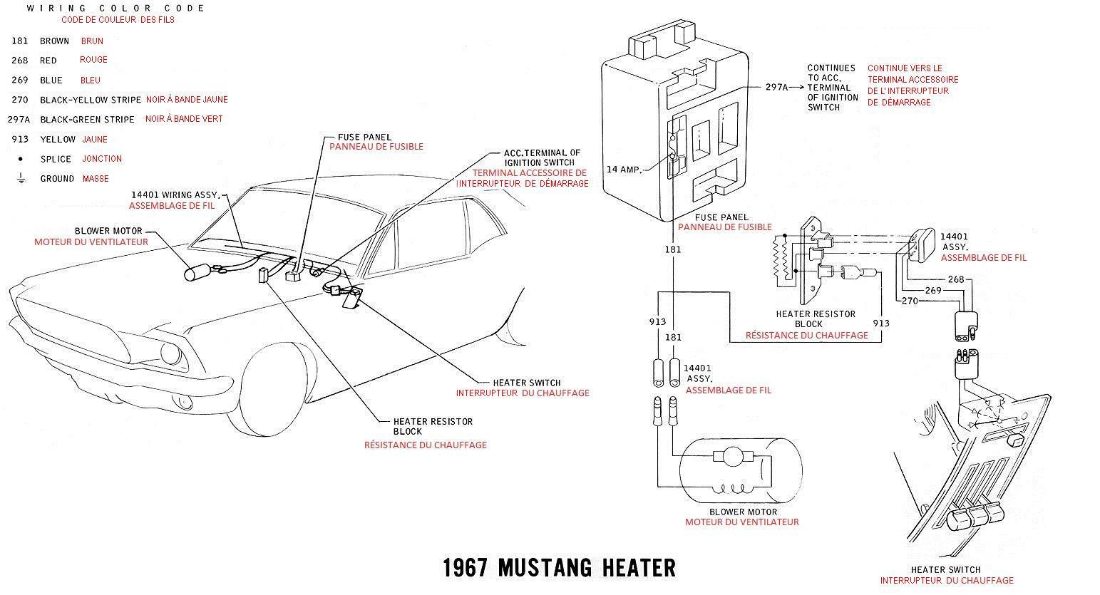 Schema Et Diagramme Electrique En Francais Pour La Mustang