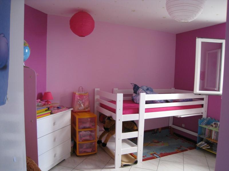 chambre fille violet et rose